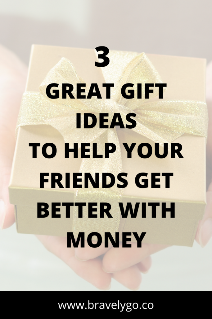 image with gift box background and text with holiday gift guide