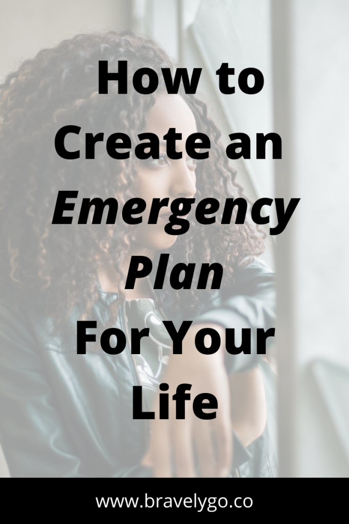 woman in the background with text on Financial Emergency
