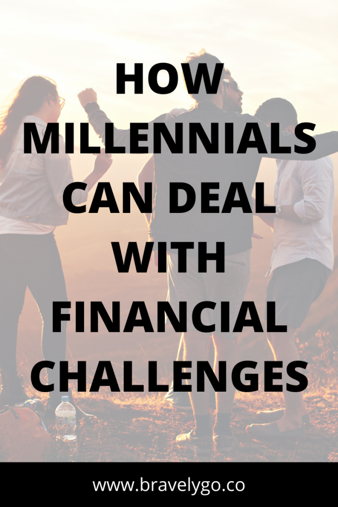 people dancing on the background with text how millennials can deal with financial crisis