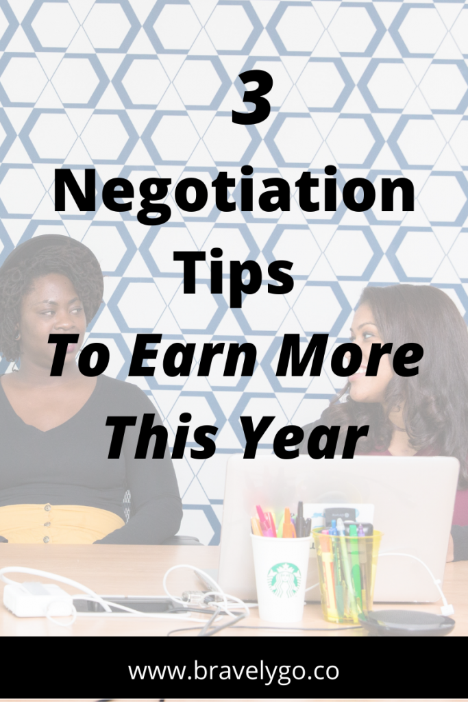 negotiation tips with tow people talking on the background