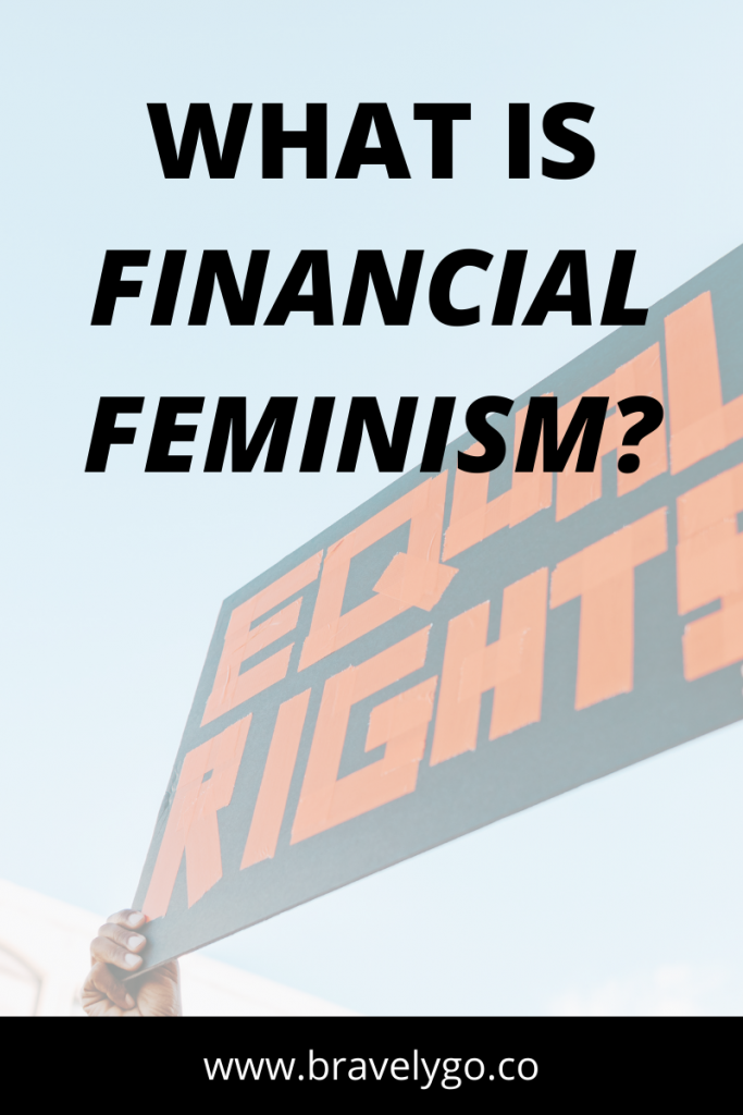 blog cover with text what is Definition of Financial Feminism